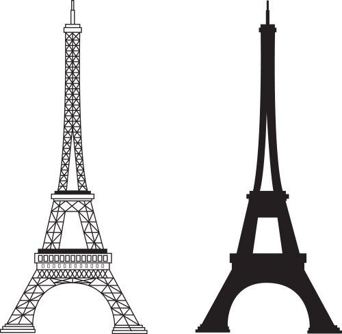 Vector tháp eiffel nổi tiếng của Pháp