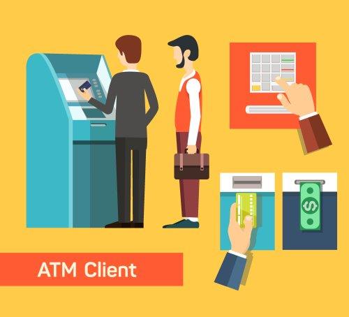 Vector máy rút tiền ATM