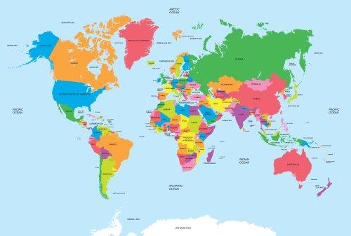 Vector bản đồ chính trị của thế giới