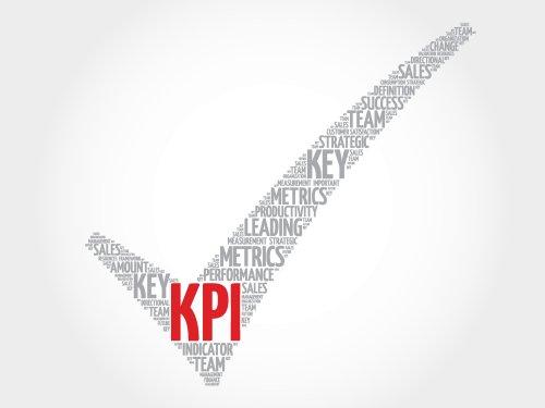 Vector KPI , đánh dấu hiệu suất chính, khái niệm kinh doanh