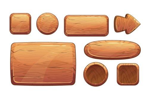 Vector hoạt hình đồ chơi bằng gỗ
