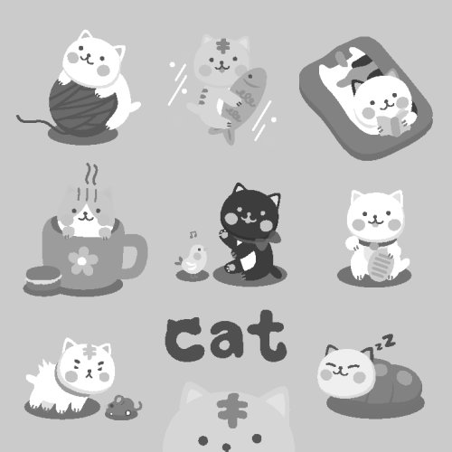 Vector biểu tượng con mèo dễ thương