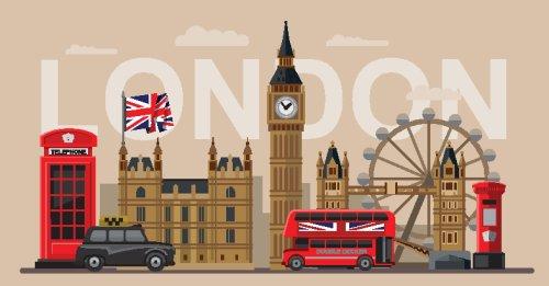 Vector màu sắc tuyệt vời của Britain và bộ biểu tượng London