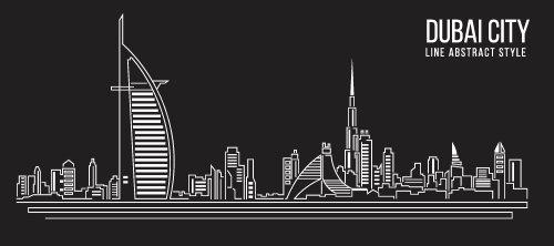 Vector Thiết kế nhân tạo thành phố Dubai