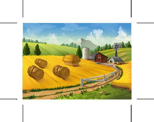 Vector nền cảnh quan nông thôn