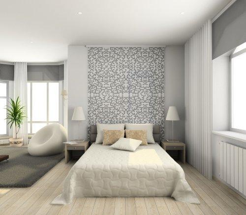 Hình ảnh phòng ngủ hiện đại. 3D render