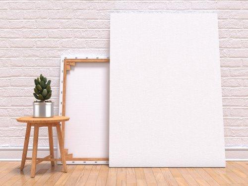 Hình minh họa khuôn lên khung vải với nhà máy, sàn nhà và tường
