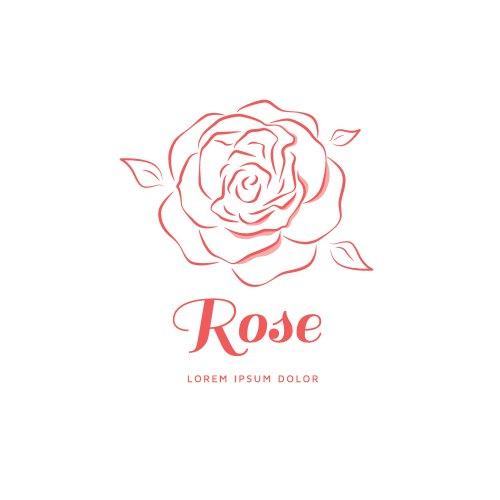 Vector logo hoa hồng
