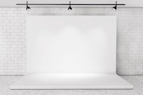Hình ảnh nền sân khấu trong phòng với bức tường gạch cực cận