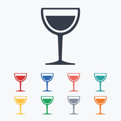 Vector biểu tượng ly rượu vang