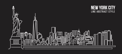 Vector minh họa thiết kế thành phố new york