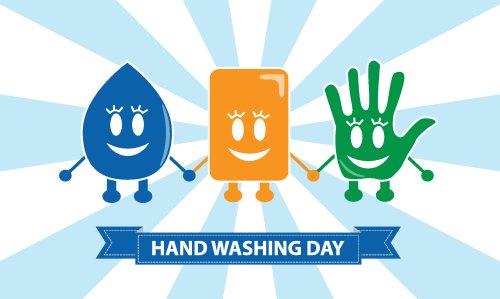 Vector biểu tượng rửa tay