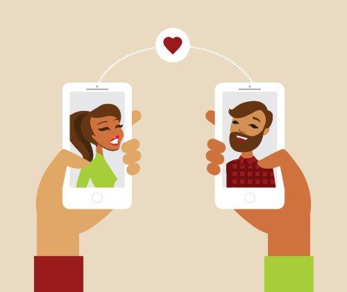 Vector khái niệm hẹn hò trực tuyến