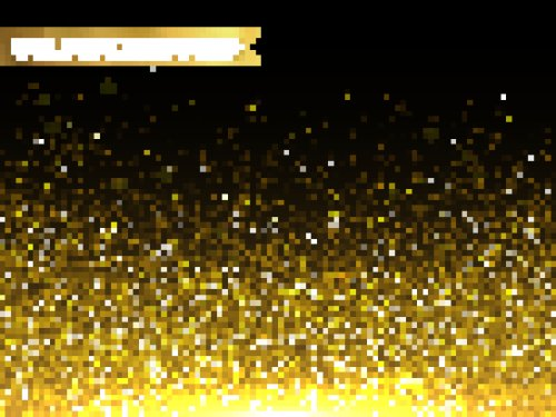 Vector nền hạt vàng long lanh sang trọng cho lời chào mừng