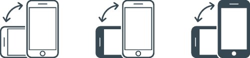 Vector xoay điện thoại thông minh