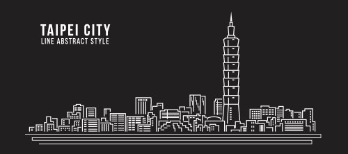 Vector xây dựng đường nghệ thuật thành phố Đài Bắc