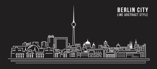Vector xây dựng đường nghệ thuật thành phố Berlin