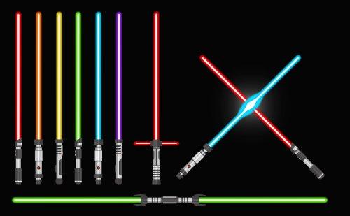 Vector thanh kiếm ánh sáng thu thập, hình ảnh minh họa vũ khí tương lai