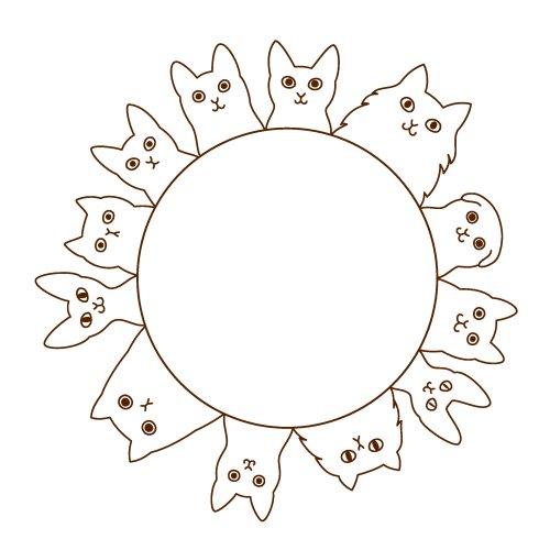 Vector vòng tròn con mèo
