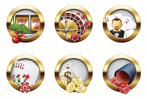 Vector - Casino và các nút cờ bạc