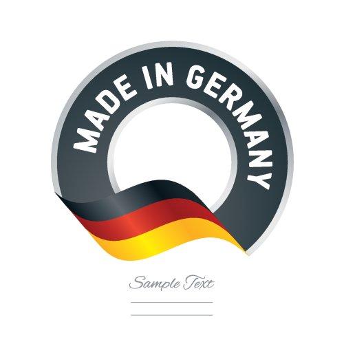 Vector biểu ngữ nút cờ màu đen xuất xứ Đức