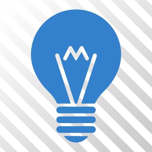 Vector biểu tượng giao diện bóng đèn