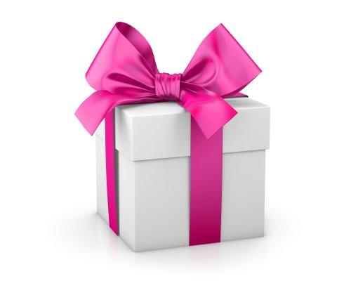 Ảnh hộp quà valentine màu hồng