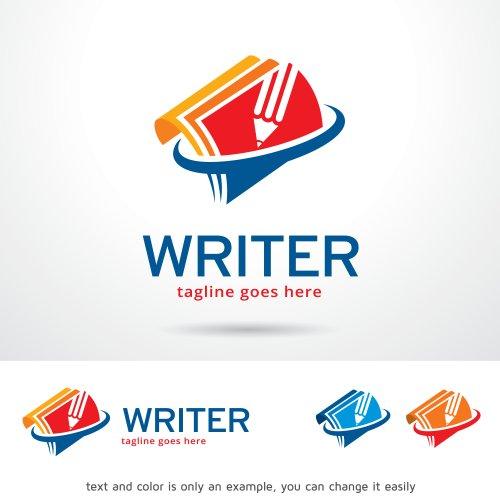Vector Logo mẫu Thiết kế nhà văn