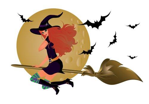 Vector - phù thủy Halloween , minh hoạ vector