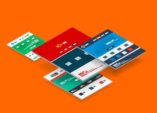 Vector khái niệm về mẫu thiết kế trang web