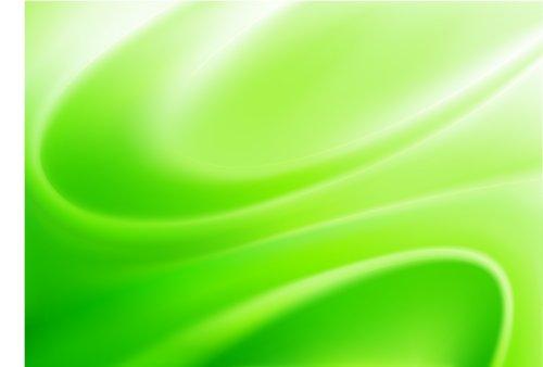Vector nền màu xanh lá cây trừu tượng làm bằng ánh sáng và đường cong