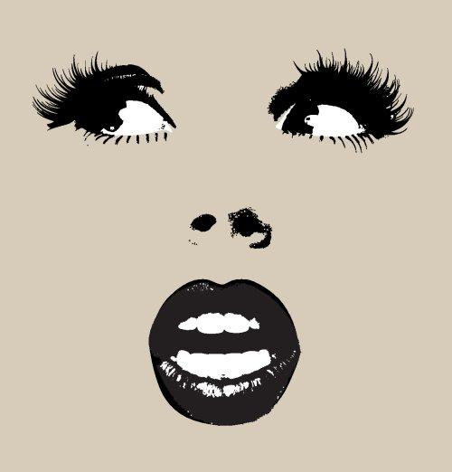 Vector khuôn mặt người phụ nữ