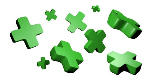 Ảnh chụp các biểu tượng  màu xanh lá cây 3d