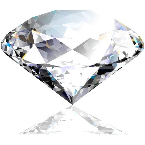 File PNG viên kim cương màu trắng trong suốt