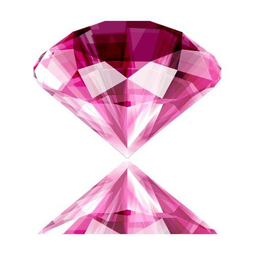File PNG hình ảnh viên kim cương màu hồng