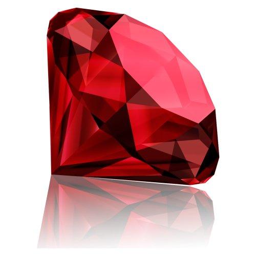 File PNG viên kim cương đỏ