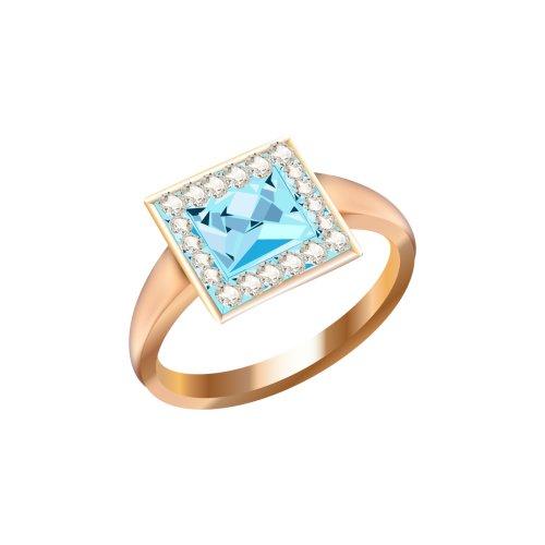 Nhẫn vàng đính viên kim cương xanh ngọc lớn, file PNG