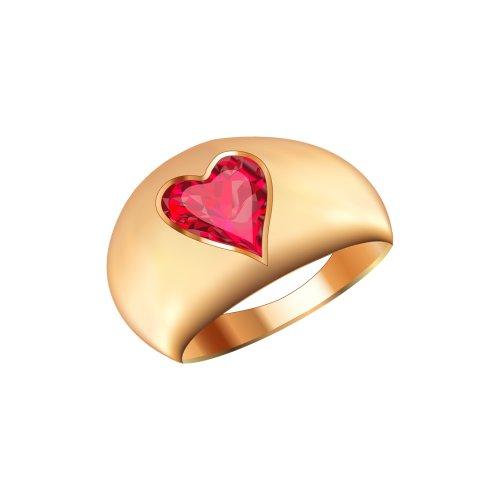 Ảnh nhẫn vàng lớn, đính viên đã hình trái tim màu đỏ, file PNG