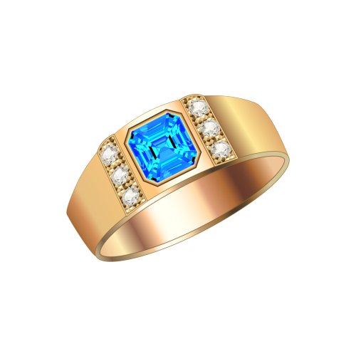 Ảnh nhẫn vàng lớn , có đính viên đá xanh lam vuông, file PNG