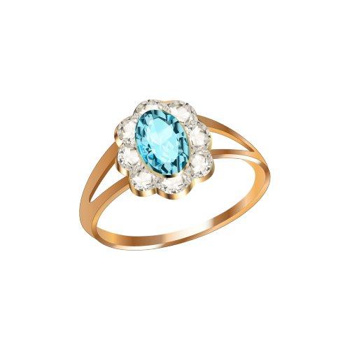 Ảnh nhẫn vàng mảnh có đính viên kim cương lớn màu lam, file PNG