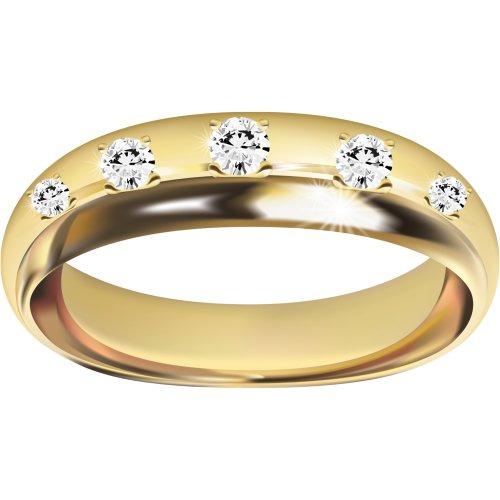 Hình ảnh PNG về nhẫn vàng đính kim cương 1