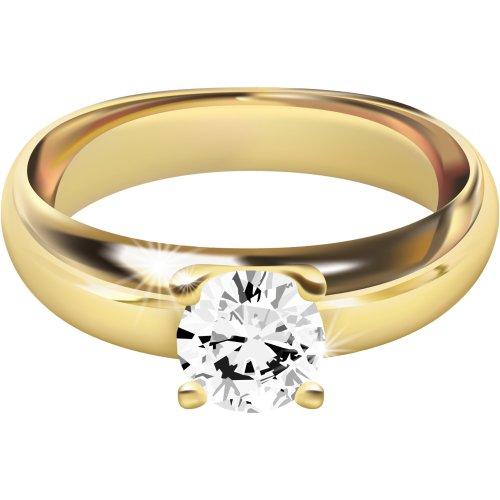 Hình ảnh PNG về nhẫn vàng đính kim cương 2