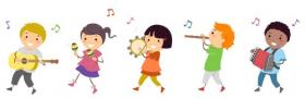 Ảnh chụp minh họa trẻ em trong một cuộc diễu hành âm nhạc
