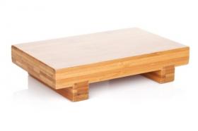 Ảnh chụp bàn gỗ cho món ăn Nhật.