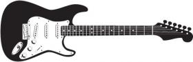 Vector - Bản vẽ chi tiết của cây guitar điện
