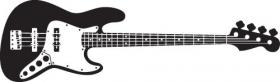 Vector - Bản vẽ chi tiết của cây guitar Bass điện