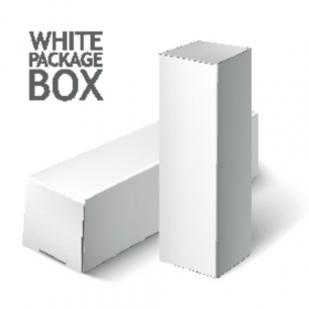 Vector mô hình hộp đóng gói