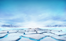 Ảnh băng nổi tràn trên thác nước xanh