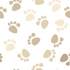 Vector - Dấu chân động vật trên nền trắng