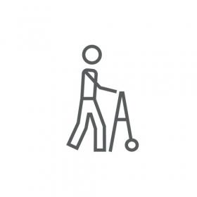Vector biểu tượng người đàn ông đi bộ